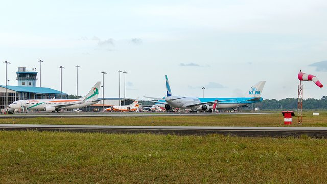 A view from Paramaribo Zanderij International Airport