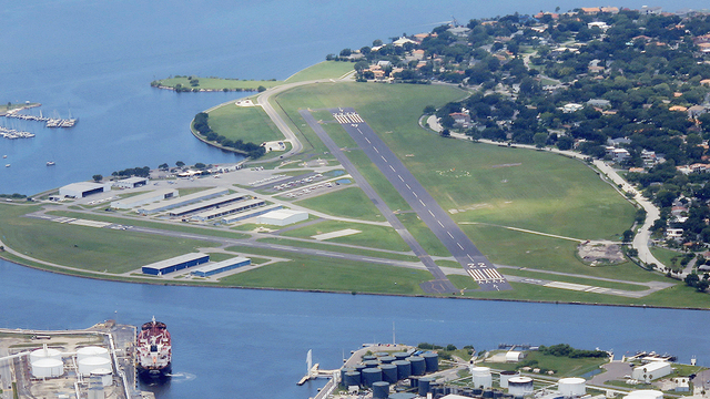 A view from Tampa Peter O'Knight Airport