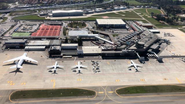A view from Bologna Guglielmo Marconi Airport