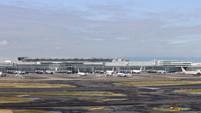 A view from Tokyo Haneda International Airport