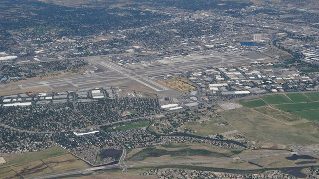 A view from Reno Tahoe International Airport