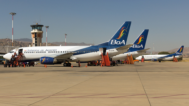 A view from Cochabamba Jorge Wilstermann International Airport
