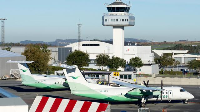 A view from Bergen Flesland Airport