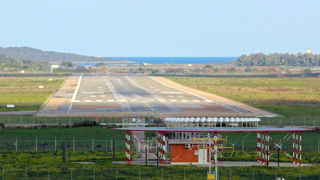 A view from Olbia Costa Smeralda Airport