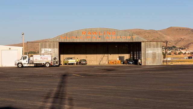 A view from Rawlins Municipal Airport