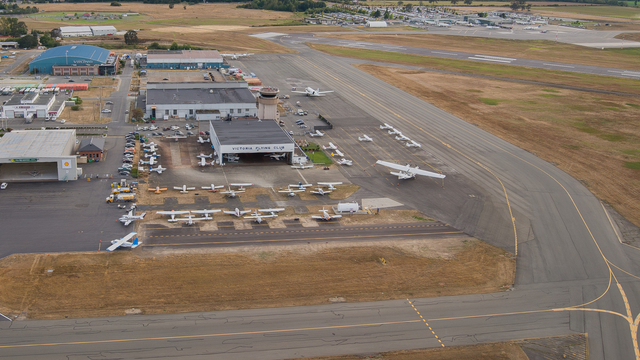 A view from Victoria International Airport