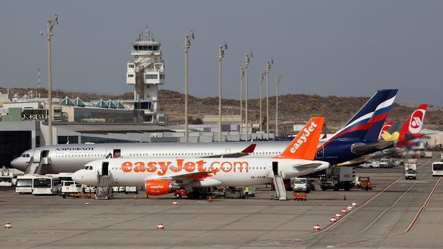 A view from Tenerife South Airport