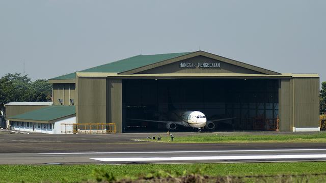 A view from Bandung Husein Sastranegara International Airport