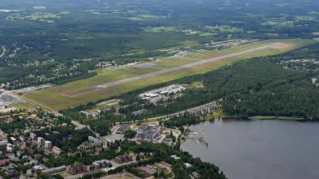 A view from Lappeenranta Airport