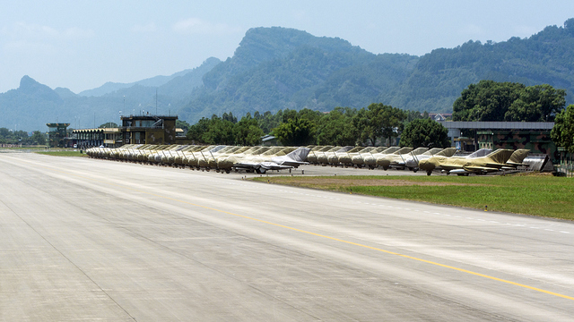 A view from Wuyishan Airport