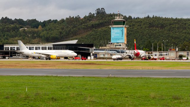 A view from A Coruna Airport