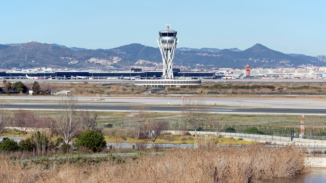 A view from Barcelona El Prat Airport