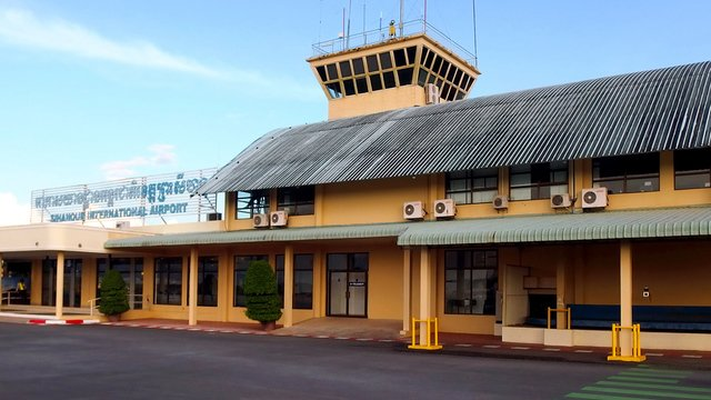 A view from Sihanoukville International Airport
