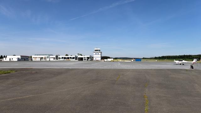 A view from Hof Plauen Airport