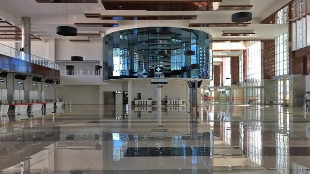 A view from Edremit Balikesir Koca Seyit Airport