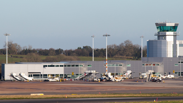 A view from Bristol Airport