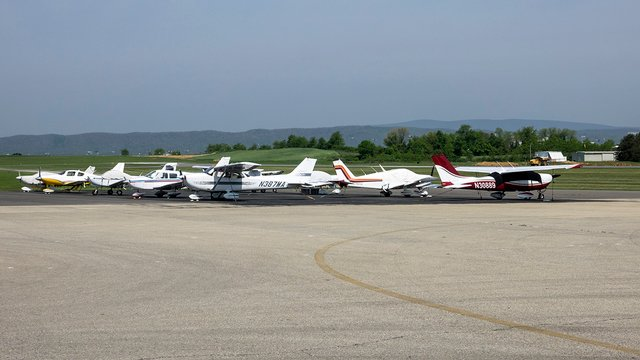 A view from Blacksburg Virginia Tech Montgomery Executive Airport