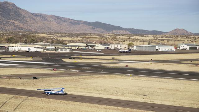 A view from Prescott Municipal Airport