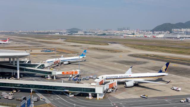 A view from Shenzhen Bao'an International Airport