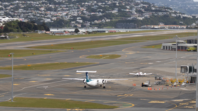 A view from Wellington International Airport