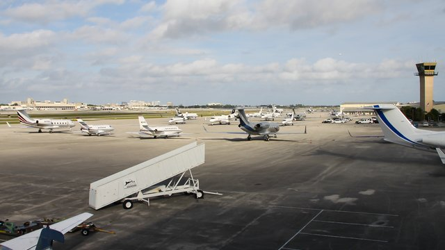 A view from West Palm Beach International Airport
