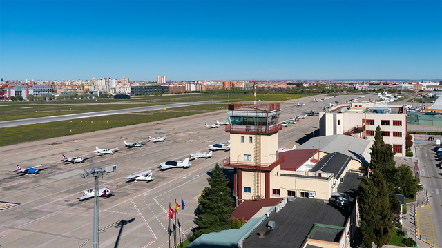 A view from Madrid Cuatro Vientos Airport