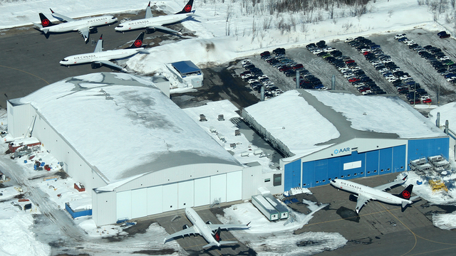A view from Trois-Rivieres Airport