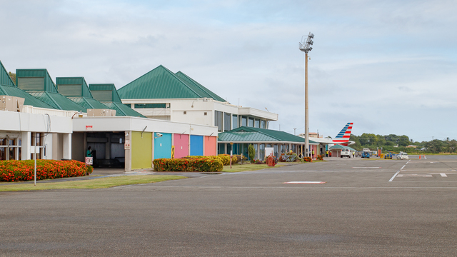 A view from Vieux Fort Hewanorra International Airport
