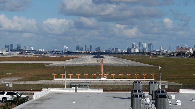 A view from Miami International Airport