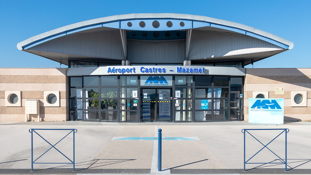 A view from Castres Mazamet Airport