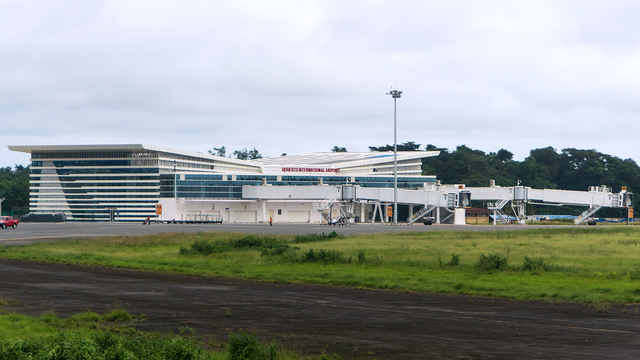 A view from Monrovia Roberts International Airport
