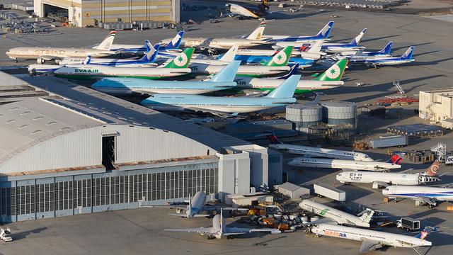 A view from San Bernardino International Airport