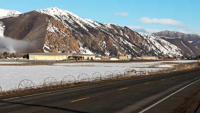 A view from Hailey Friedman Memorial Airport