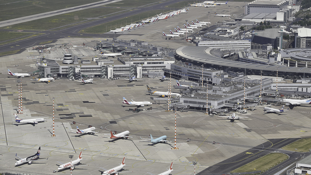 A view from Dusseldorf International Airport