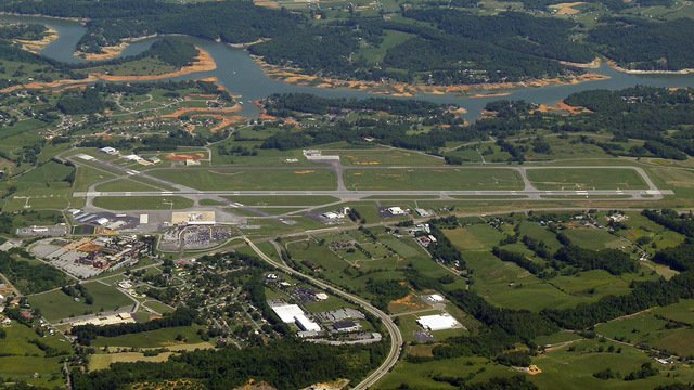 A view from Blountville Tri-Cities Regional Airport
