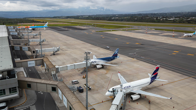 A view from Quito Mariscal Sucre International Airport