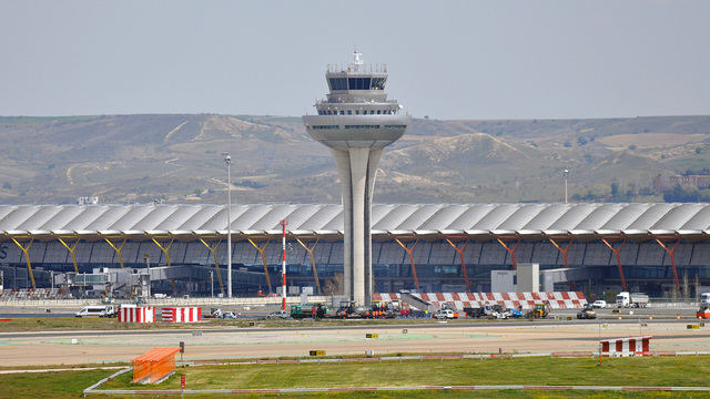 A view from Madrid Barajas Airport