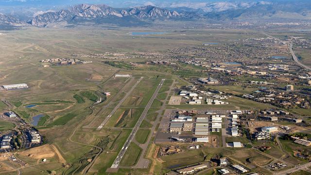 A view from Denver Rocky Mountain Metropolitan Airport