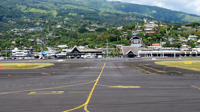A view from Papeete Tahiti Faa'a International Airport