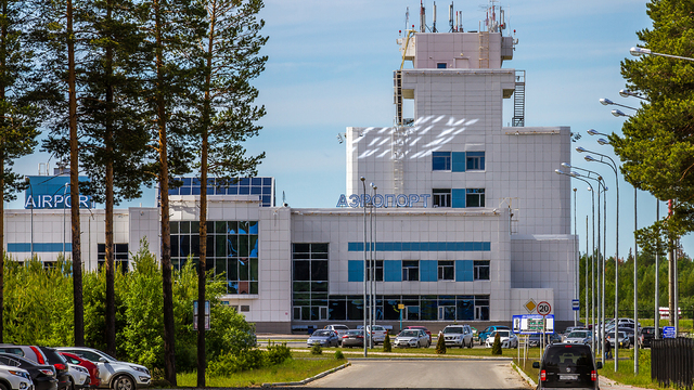 A view from Sovetsky Airport