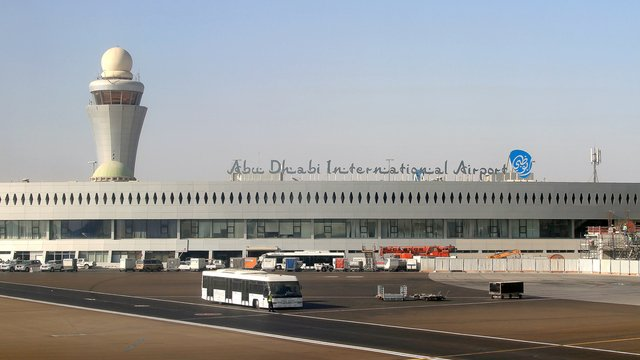 A view from Abu Dhabi International Airport