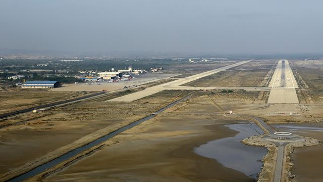A view from Bandar Abbas International Airport