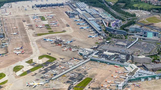 A view from Manchester Airport