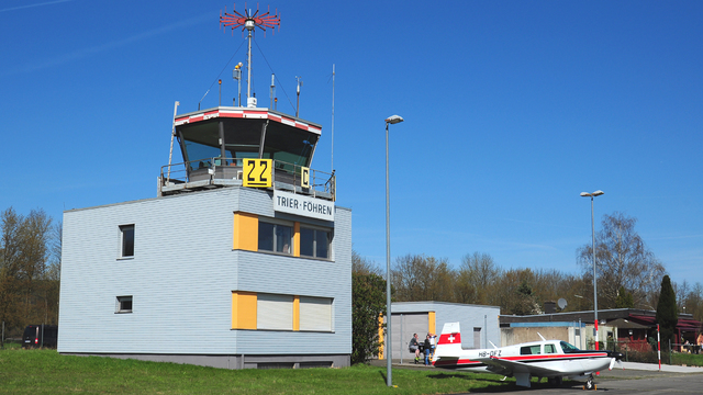 A view from Trier Fohren Airport