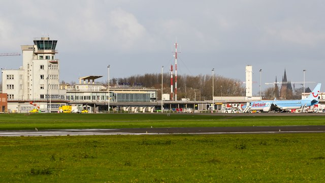 A view from Ostend Bruges International Airport
