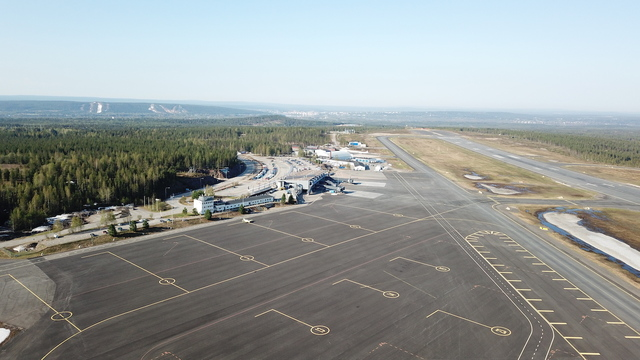 A view from Rovaniemi Airport