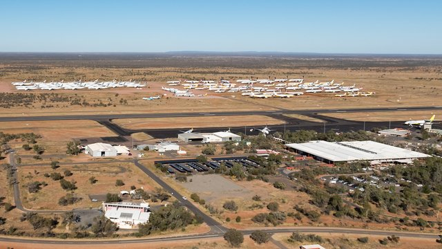 A view from Alice Springs Airport