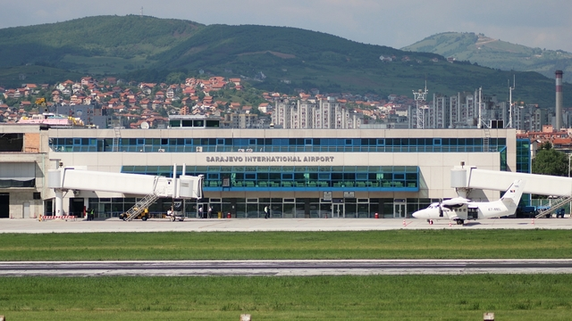 A view from Sarajevo International Airport