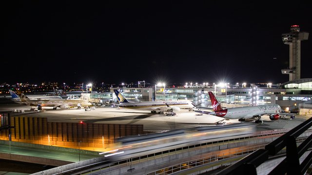 A view from New York John F. Kennedy International Airport