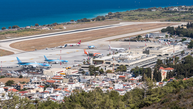 A view from Rhodes International Airport